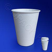 Россия Стакан бумажный 350мл для горячих напитков белый 50шт/уп