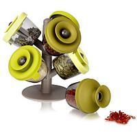 Набор емкостей-органайзер для специй с силиконовыми крышечками Oxiloc FineLife Pop-Up Spice Rack, фото 1