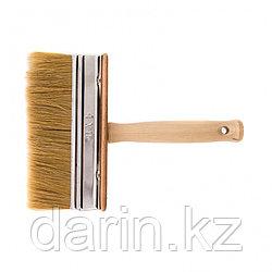 Кисть-ракля, 40 х 150 мм, натуральная щетина, деревянный корпус, деревянная ручка Россия