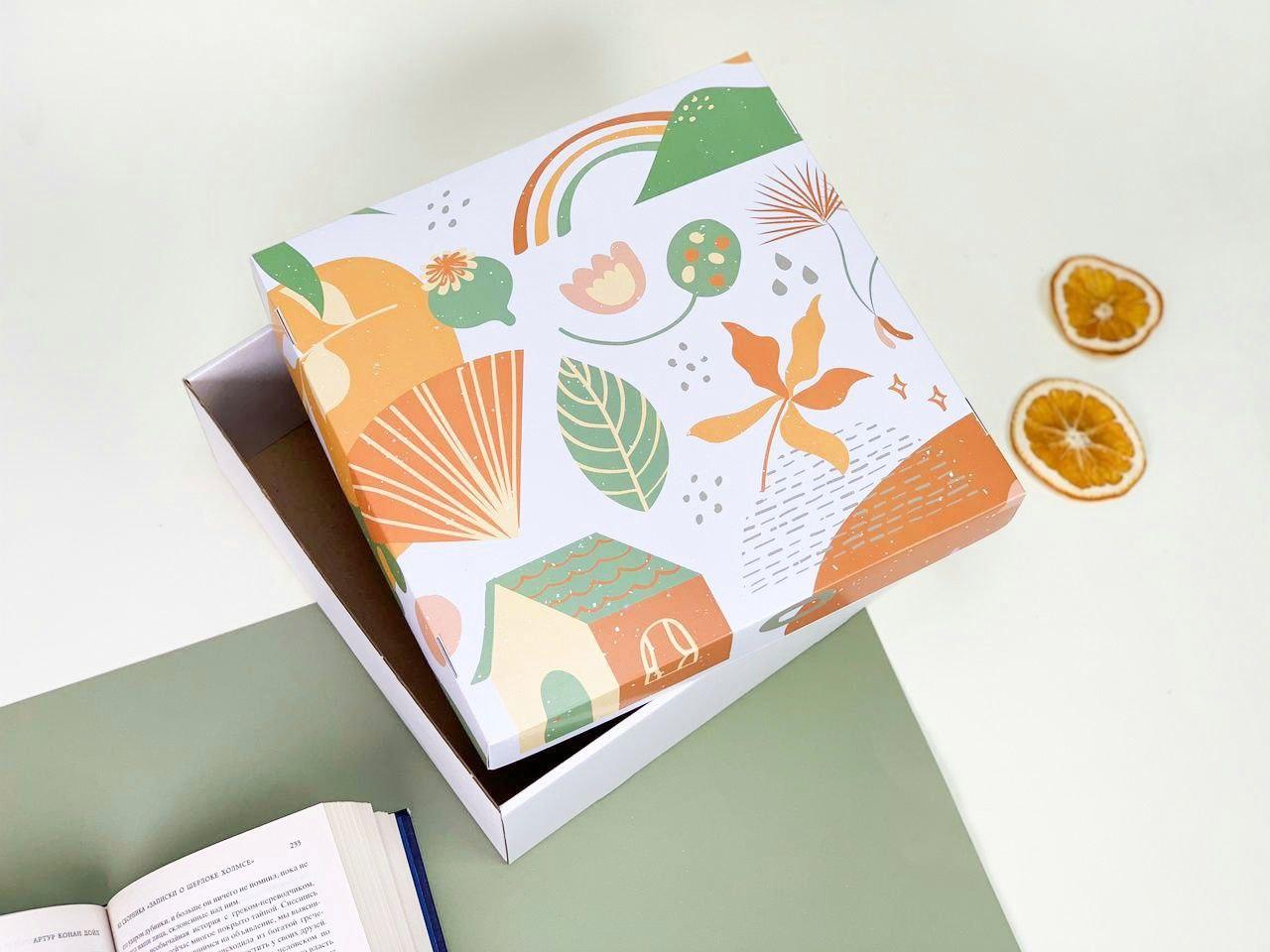 "Подарочная коробка ""Orange"". Размер: 20*20*9"