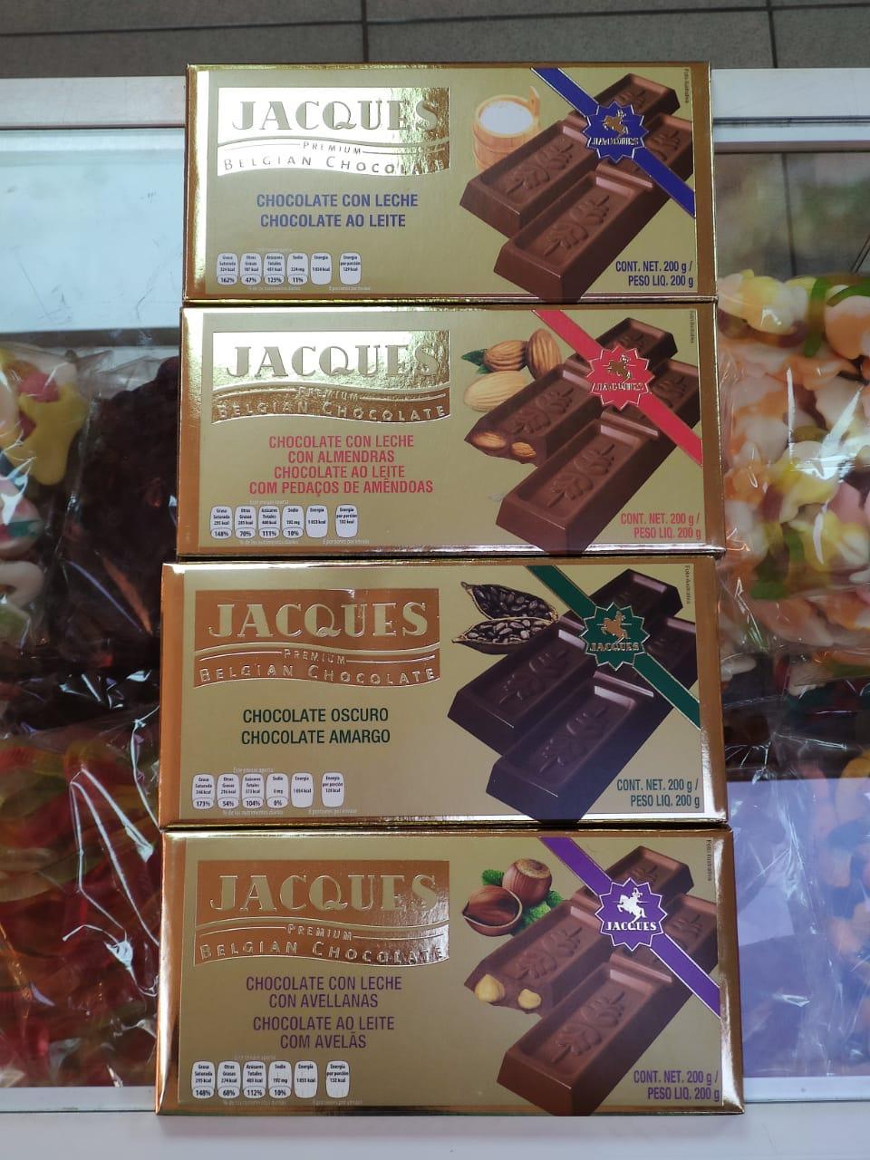Бельгийский шоколад Jacques 200 гр (Ассорти вкусов)