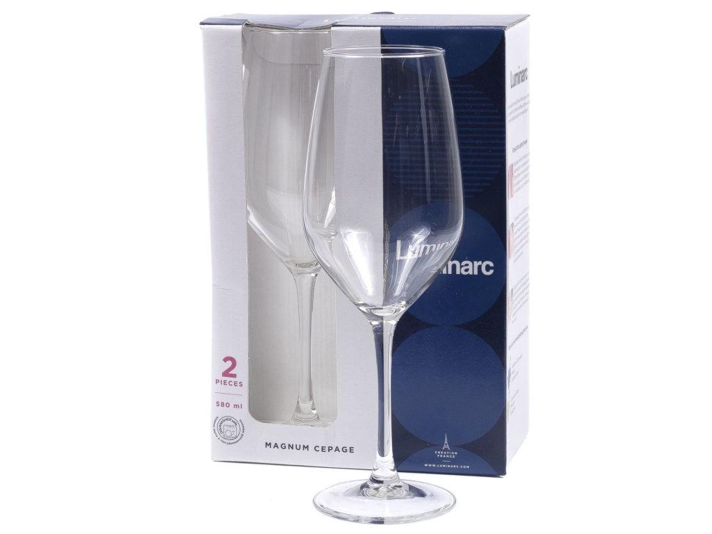 Набор бокалов для вина Luminarc Magnum Cepage (Магнум сепаж) 2шт 580мл P3163
