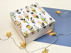 "Подарочная коробка ""Перо"". Размер: 20*20*9"