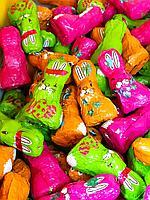 Шоколадные зайцы Разноцветные 1 кг.