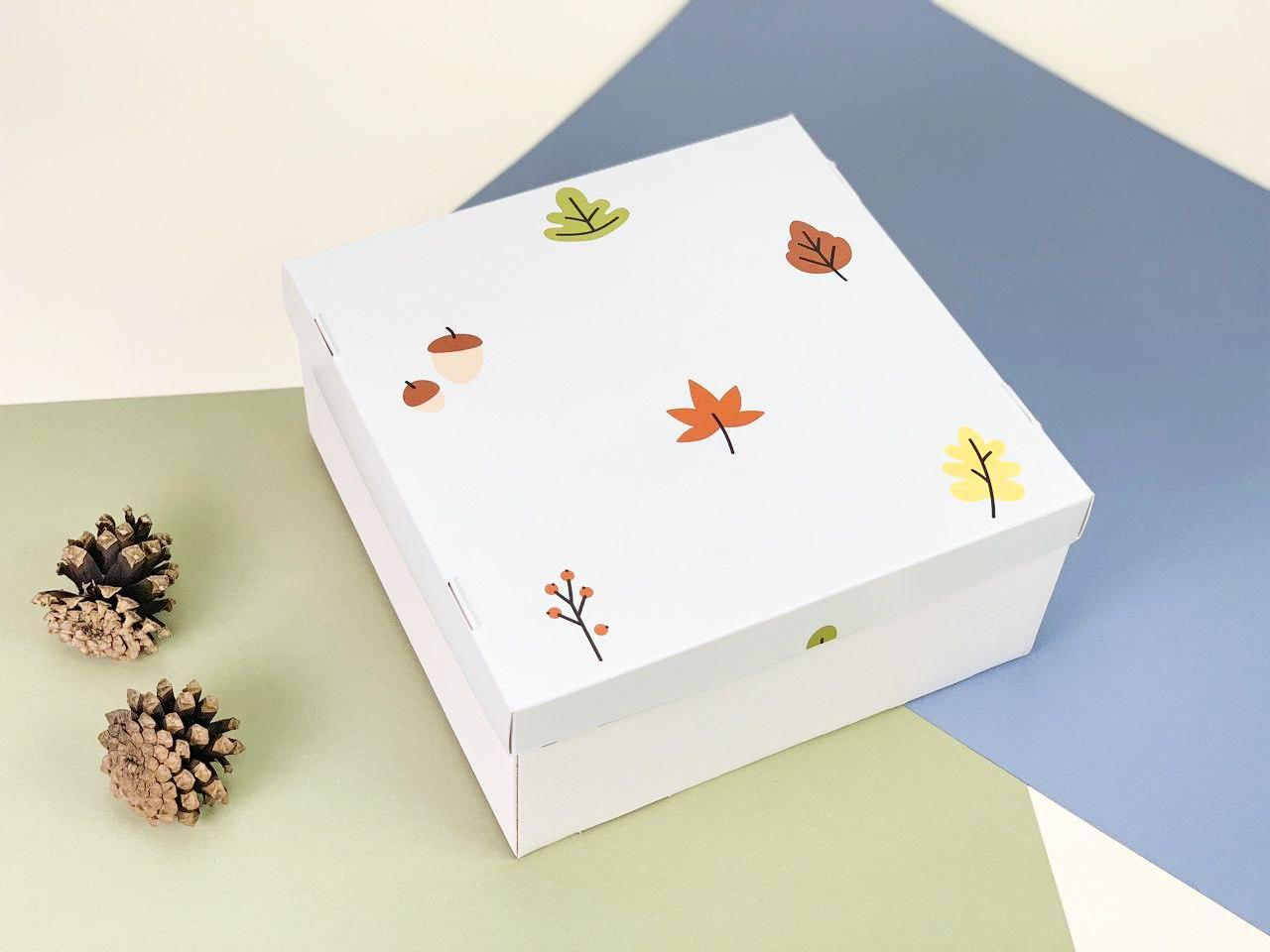 "Подарочная коробка ""Осенняя"". Размер: 20*20*9"