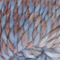 Пряжа 'Winter wool' 20 шерсть, 80 акрил 70м/100гр (01 коричнево-голубой)