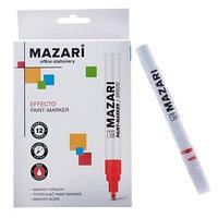 Маркер-краска (лаковый) Mazari Effecto, 2.0, красный (комплект из 12 шт.)