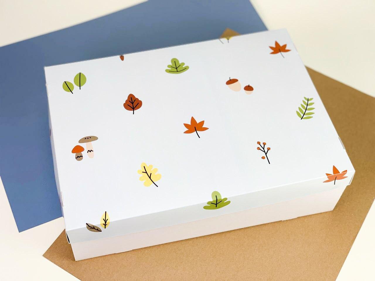 "Подарочная коробка ""Осенняя"". Размер: 35*25*9"
