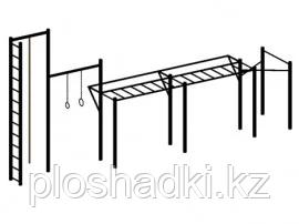 """Спортивный комплекс """"Варкаут"""", лестница, канат, кольца гимнастические, турники, рукоход"""