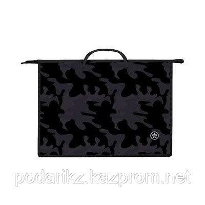 """Папка пластиковая для тетрадей """"Hatber"""", А3, 1 отделение, с ручками, на молнии, серия """"Military styl Hatber"""