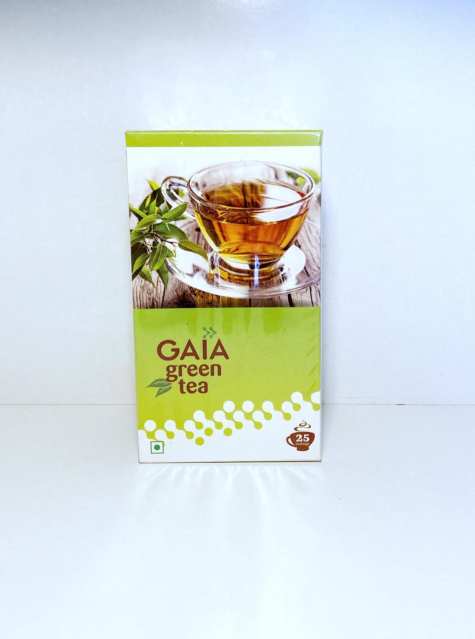 Зеленый натуральный чай , Gaia. 25 пакетиков
