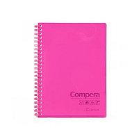 Тетрадь в клетку (80 листов формата А5 на гребне)Comix, розовый неон