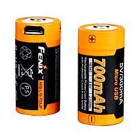 Аккумулятор для фонарей FENIX ARB-L16-700UP, 16340, Li-ion, 3.6V, 700 mAh, зарядка от USB