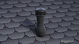 Вентиляционный выход НЕИЗОЛИРОВАННЫЙ  D 125/110  Н 500 мм с переходником 125/110мм на готовую кровлю, фото 3