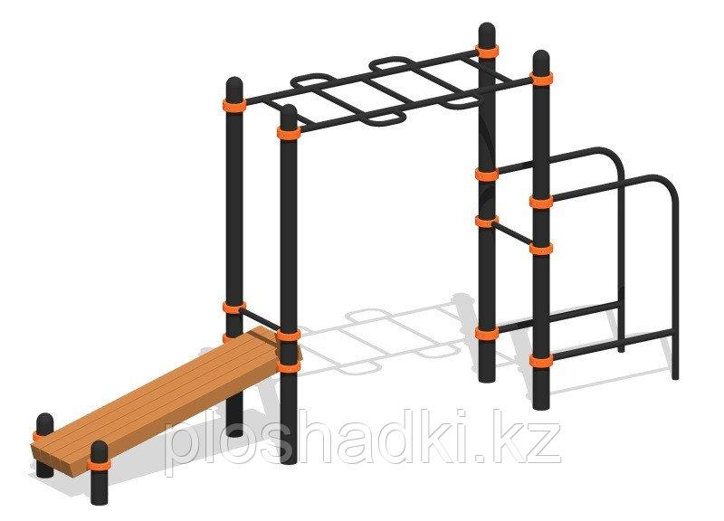 """Спортивный комплекс """"Варкаут"""", скамейка спортивная, рукоходы, брусья"""