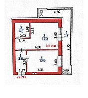 1 комнатная квартира в ЖК  Бахыт 42.3 м², фото 1