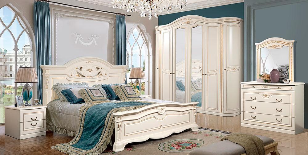 СОРРЕНТО спальный гарнитур 6Д, белый