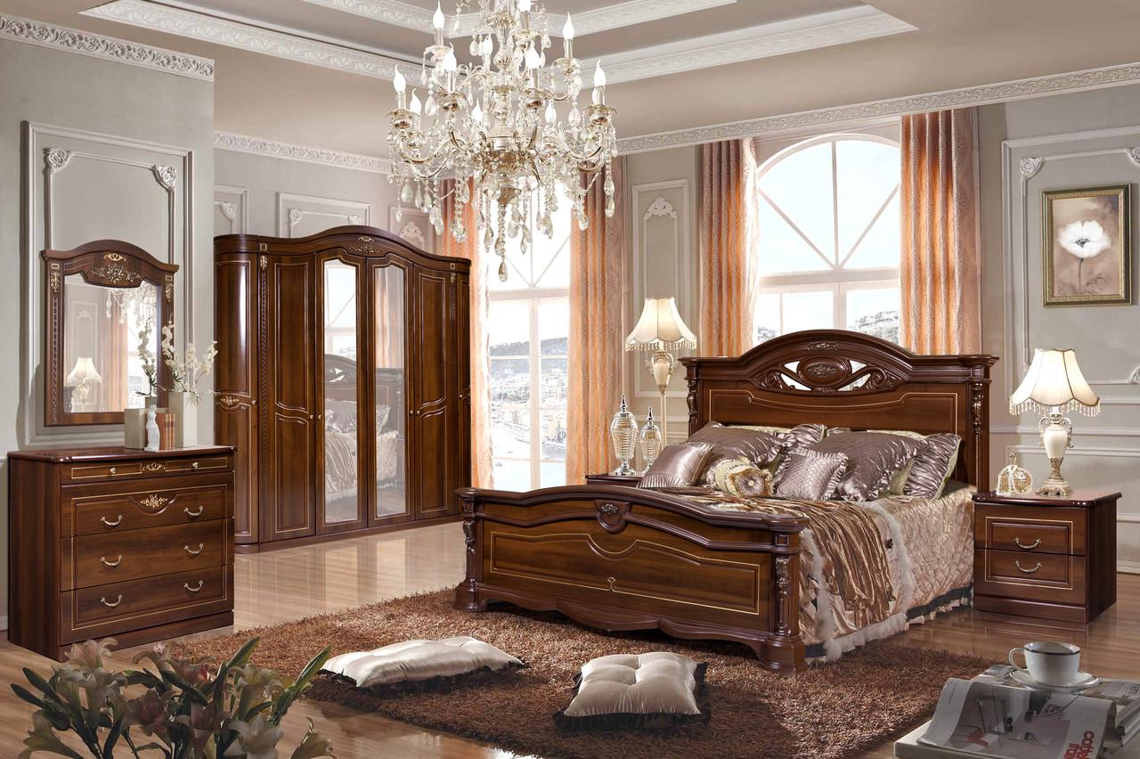 СОРРЕНТО спальный гарнитур 6Д, шоколад
