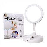 Косметическое зеркало с подсветкой My Foldaway Mirror, фото 7