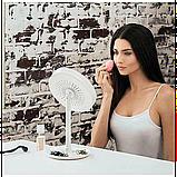 Зеркало с увеличением, подсветкой и вентилятором Beauty Breeze Mirror, фото 3