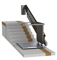 Наклонная подъемная платформа для инвалидов