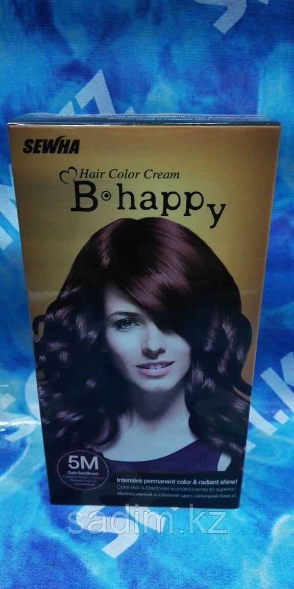 B Happy ( 5M ) - Краска для волос - Темно -  красно -  коричневый