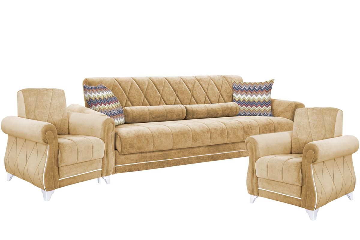 Комплект мягкой мебели Роуз, Бежевый, Нижегородмебель и К(Россия)