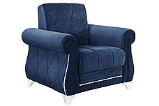Комплект мягкой мебели Роуз, Синий, Нижегородмебель и К(Россия), фото 3