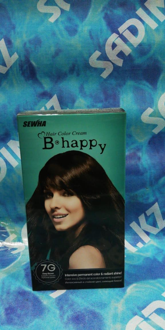 B Happy ( 7G ) - Краска для волос - Глубокий шатен