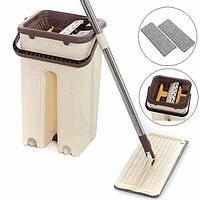 Швабра с ведром и автоматическим отжимом - комплект для уборки Scratch Cleaning Mop.