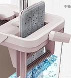 Швабра с ведром и автоматическим отжимом - комплект для уборки Scratch Cleaning Mop., фото 4