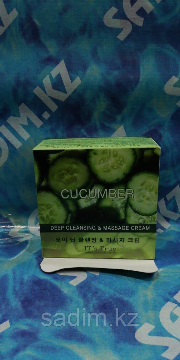 Cellio it's true deep cleansing & massage cream Cucumber  -  Массажный Очищающий крем на основе огурца