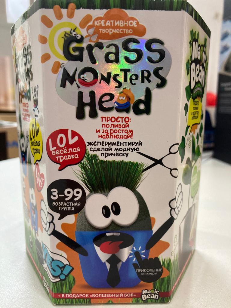 "Набор креативного творчества ""GRASS MONSTERS HEAD Волшебный боб YES"" (8)"