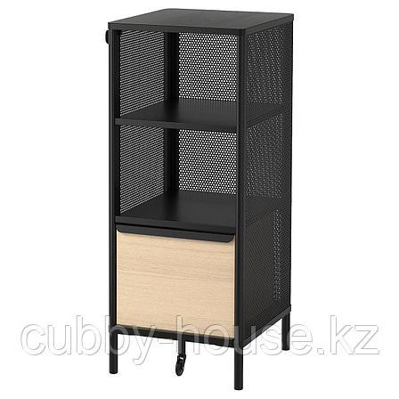 БЕКАНТ Модуль для хранения, на ножках, сетка черный, 41x101 см, фото 2
