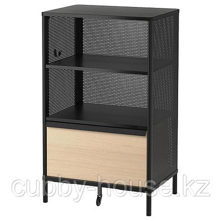 БЕКАНТ Модуль для хранения, на ножках, сетка черный, 61x101 см, фото 2