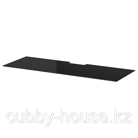 БЕСТО Верхняя панель д/ТВ, стекло черный, 120x40 см, фото 2