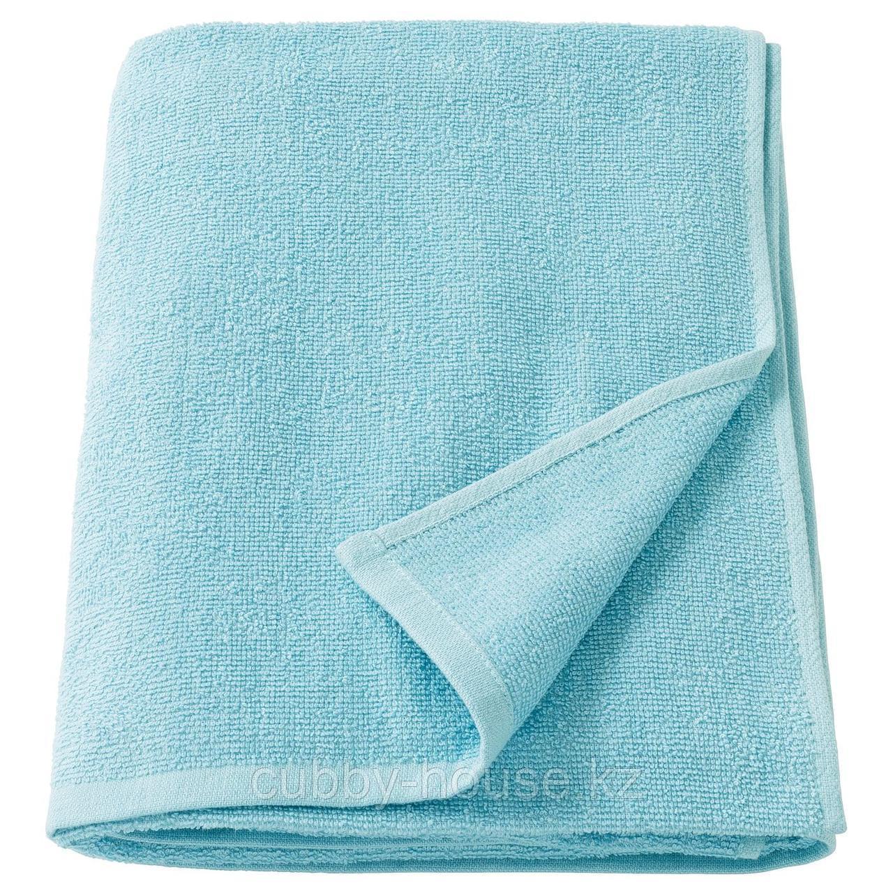 КОРНАН Простыня банная, голубой, 100x150 см