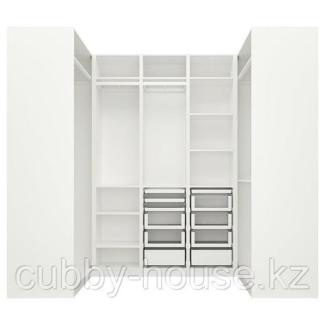 ПАКС Гардероб угловой, белый, 113/271/113x236 см, фото 2