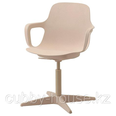 ОДГЕР Рабочий стул, белый, бежевый, фото 2
