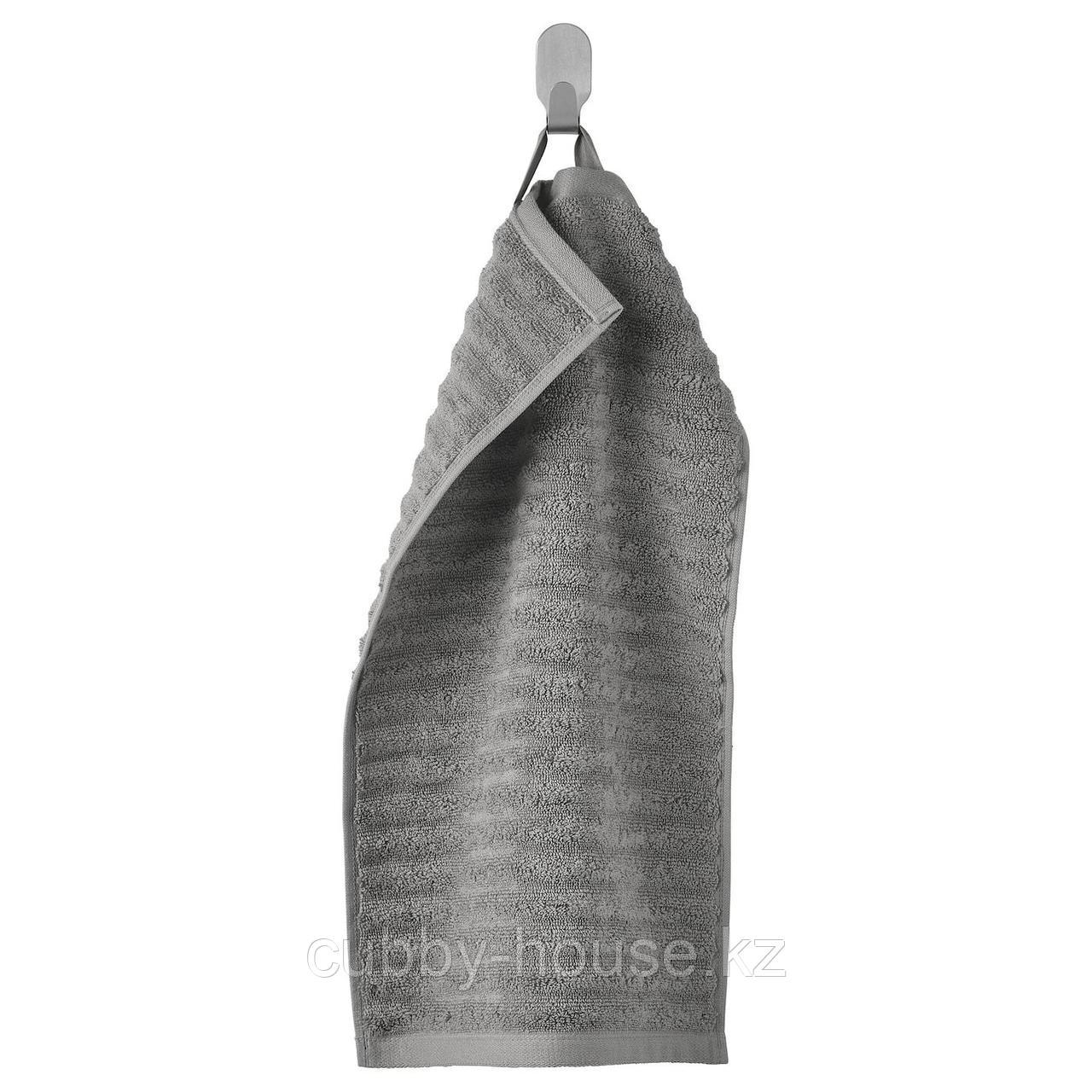 ФЛОДАРЕН Полотенце, серый, 30x50 см