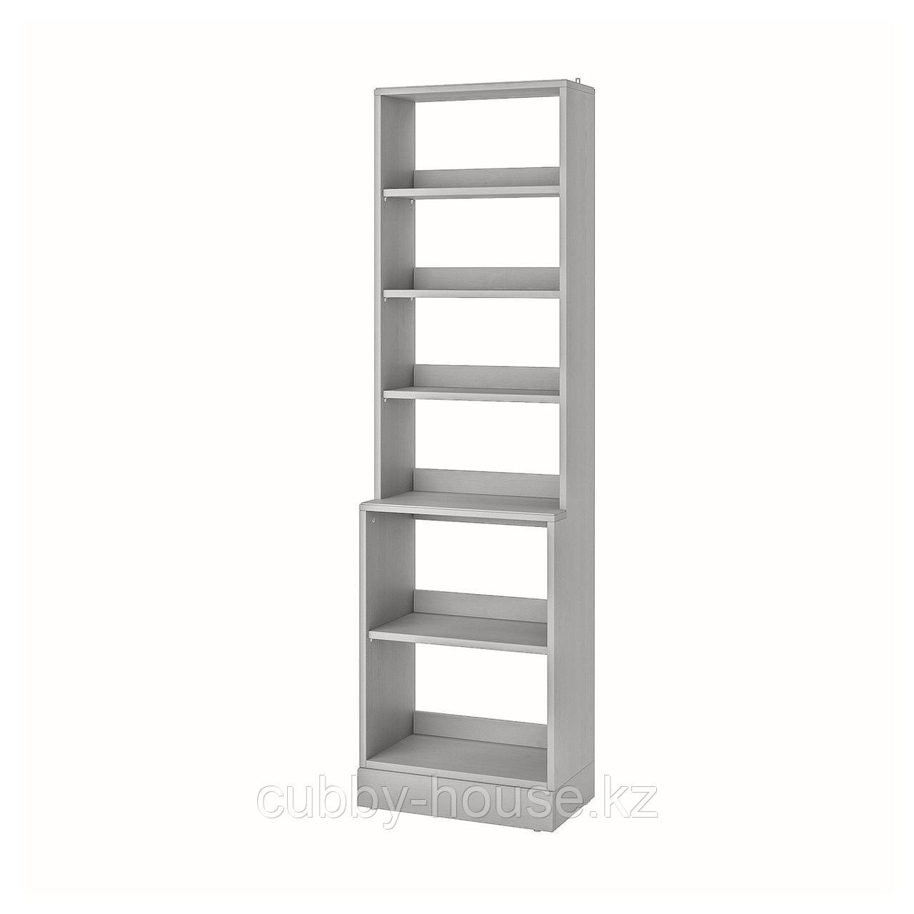 ХАВСТА Стеллаж с цоколем, серый, 61x37x212 см