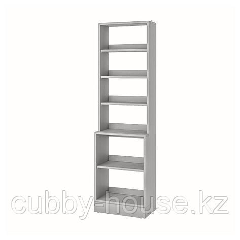 ХАВСТА Стеллаж с цоколем, серый, 61x37x212 см, фото 2