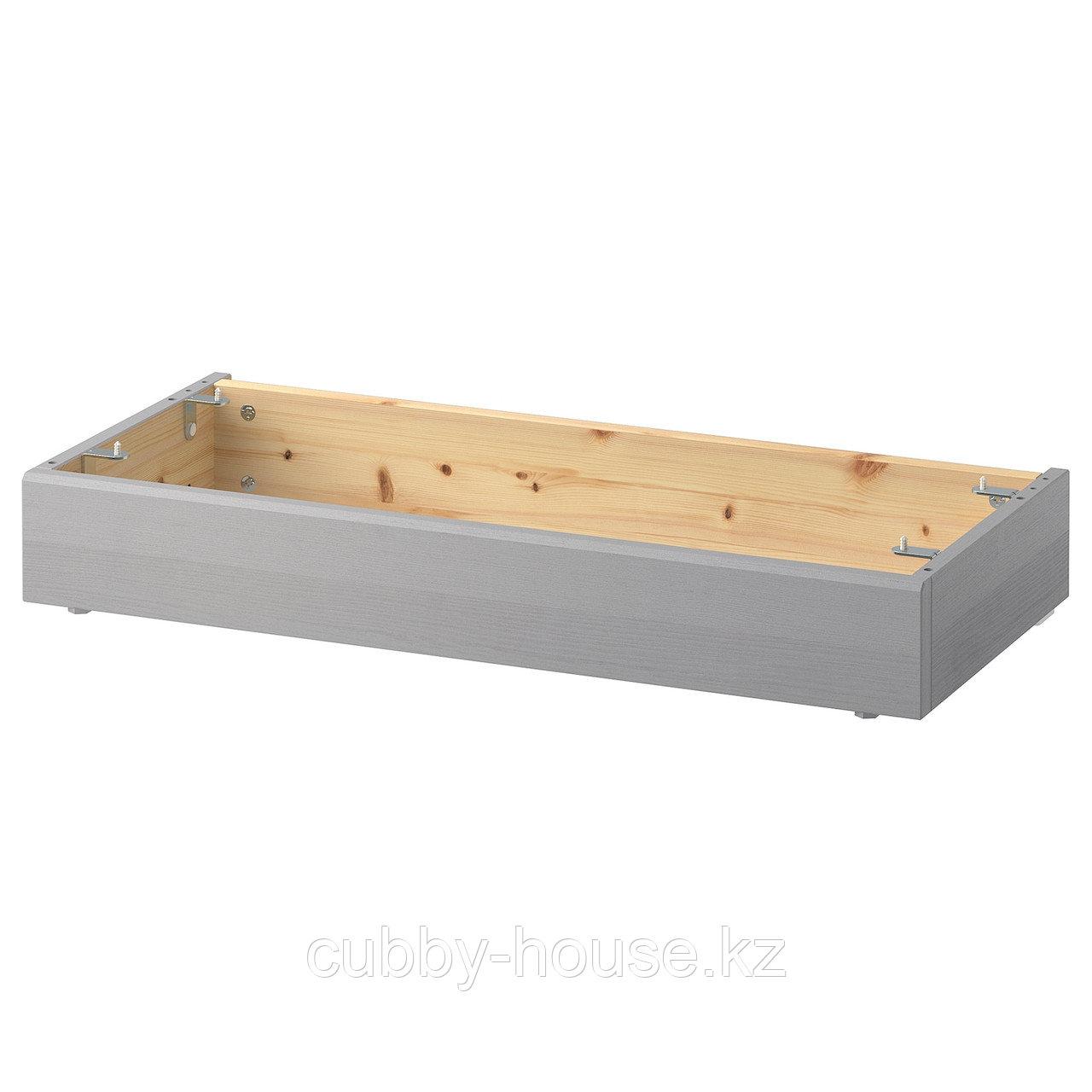 ХАВСТА Цоколь, серый, 81x37x12 см
