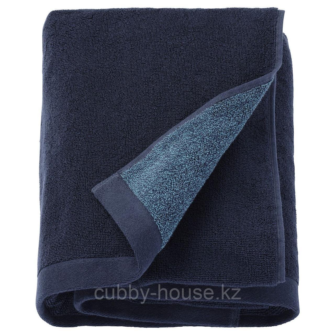 ХИМЛЕОН Простыня банная, темно-синий, меланж, 100x150 см