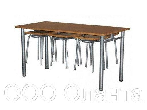 Обеденная группа для школьной столовой (1500х600х750 мм) арт. ОЗ-2/1