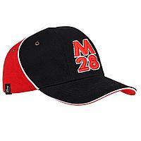 Бейсболка М28, черная с красным, фото 1
