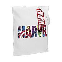 Холщовая сумка Marvel Avengers, белая, фото 1