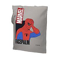 Холщовая сумка Facepalm, серая, фото 1