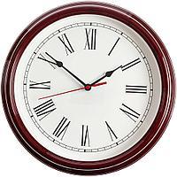 Часы настенные Flat Circle, бордовые, фото 1