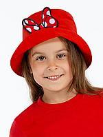 Панама детская «Бант Минни Маус», красная, фото 1